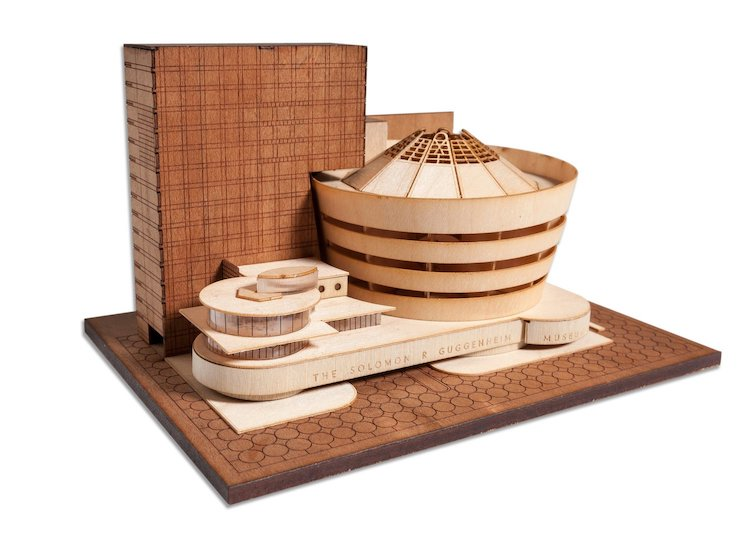 Kit de maquette du musée Guggenheim des projets Frank Lloyd Wright