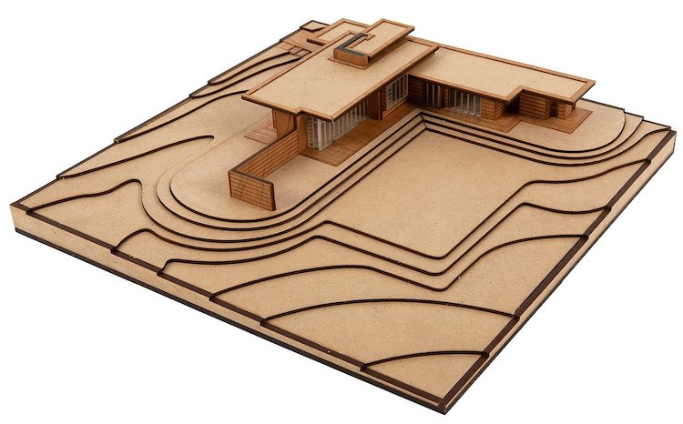 Kit de maquette de maison usonienne de projets Frank Lloyd Wright