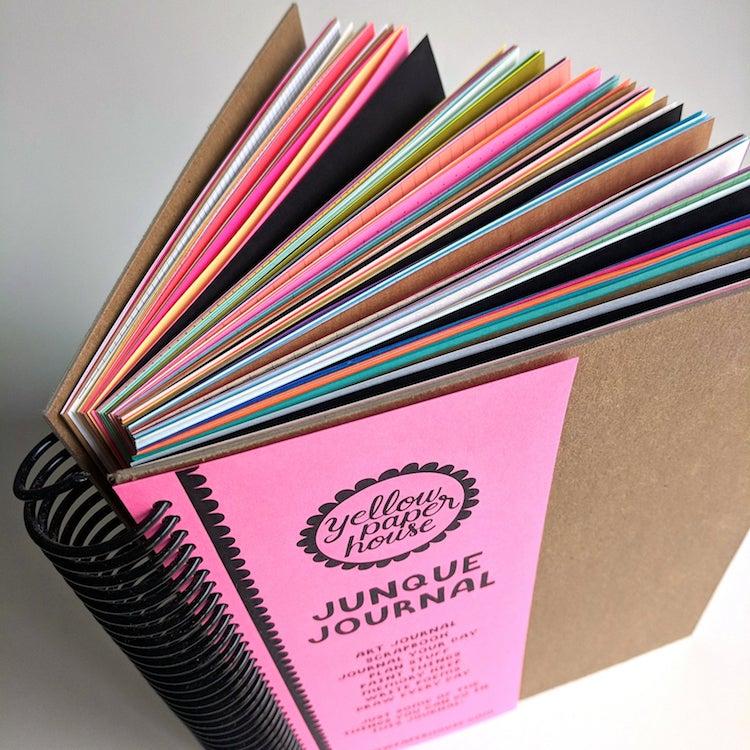 Journal d'art multicolore