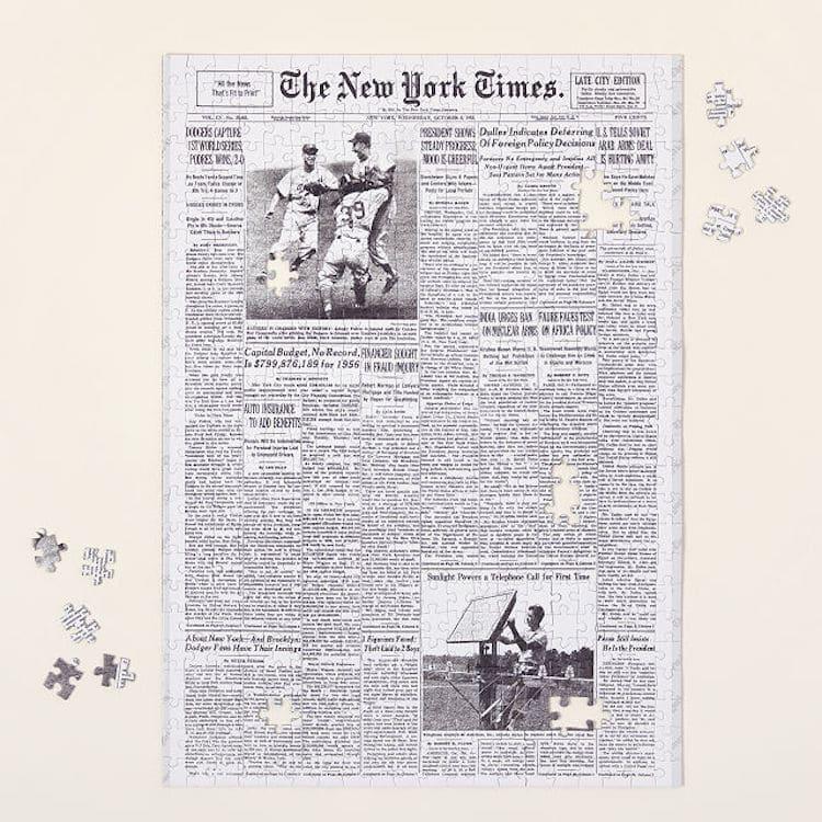 Puzzle personnalisé de la page d'accueil du New York Times