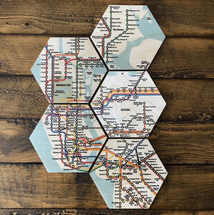 Sous-verres du métro de New York