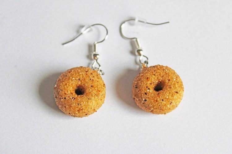 Boucles d'oreilles bagels