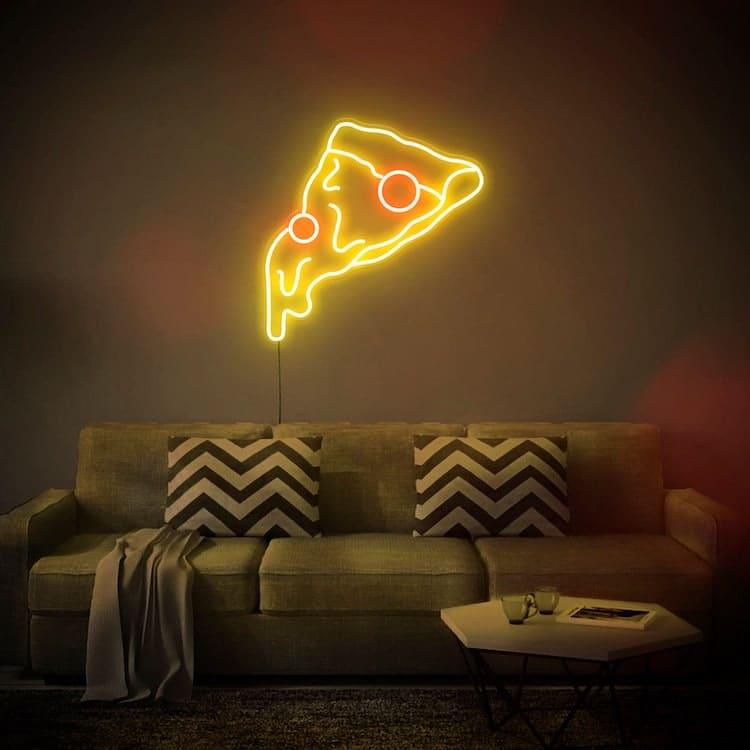 Pizza Slice Enseigne Néon LED
