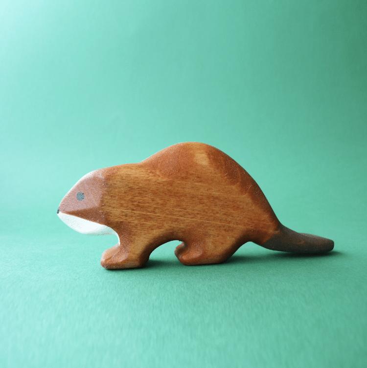 Figurine Castor en Bois