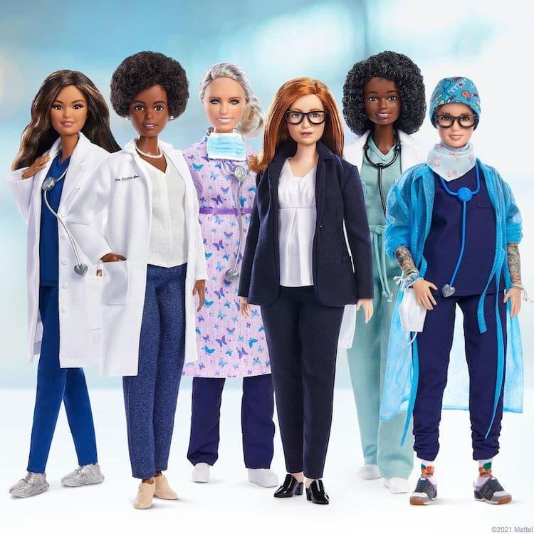 Poupées Barbie Covid-19 Pandémie Femmes Héros