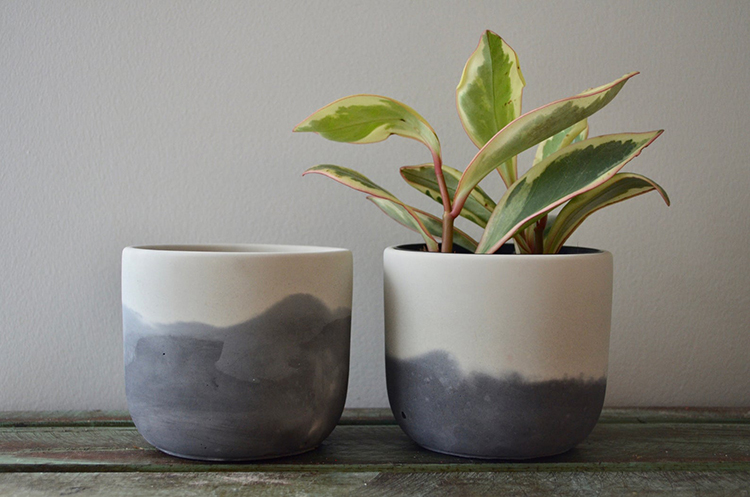 Jardinière en béton minimaliste