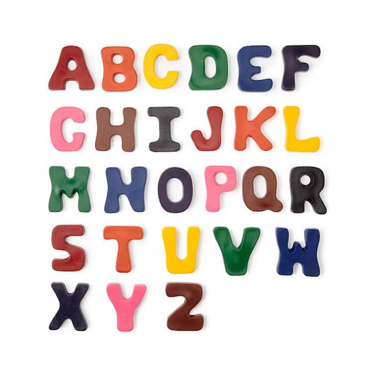Crayons alphabet de A à Z