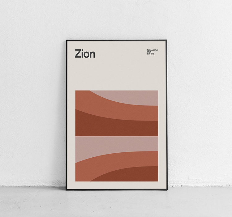 Affiche minimaliste de Sion