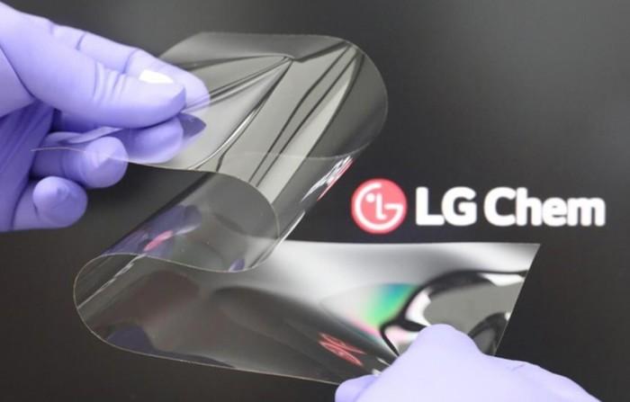 Matériel pliable LG Chem