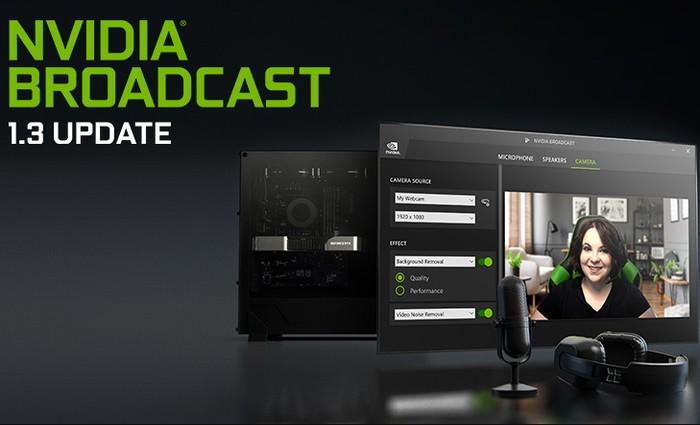 Mise à jour de l'application NVIDIA Broadcast 1.3