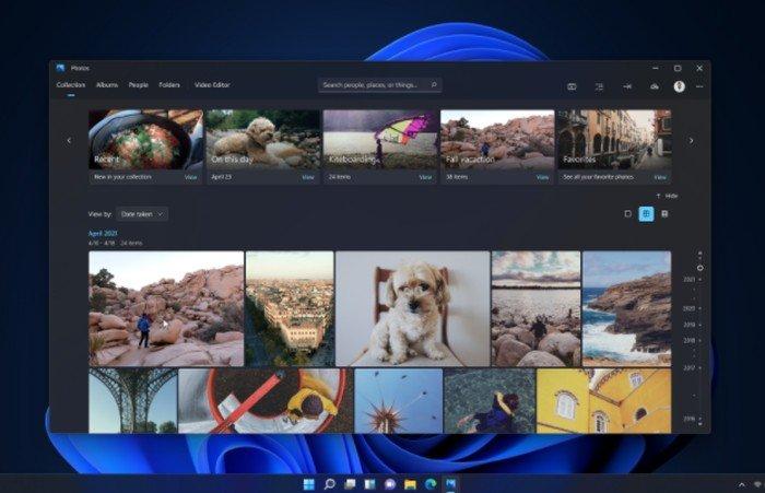 Nouvelle application Microsoft Windows 11 Photos