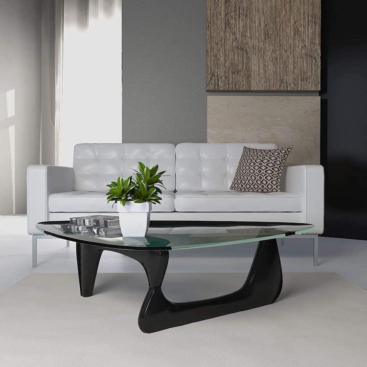 Table Réplique Noire de Noguchi par Isamu Noguchi