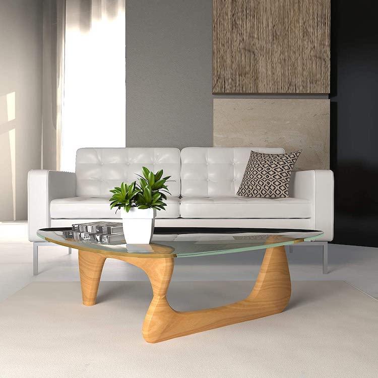 Réplique en bois naturel de la table Noguchi par Isamu Noguchi