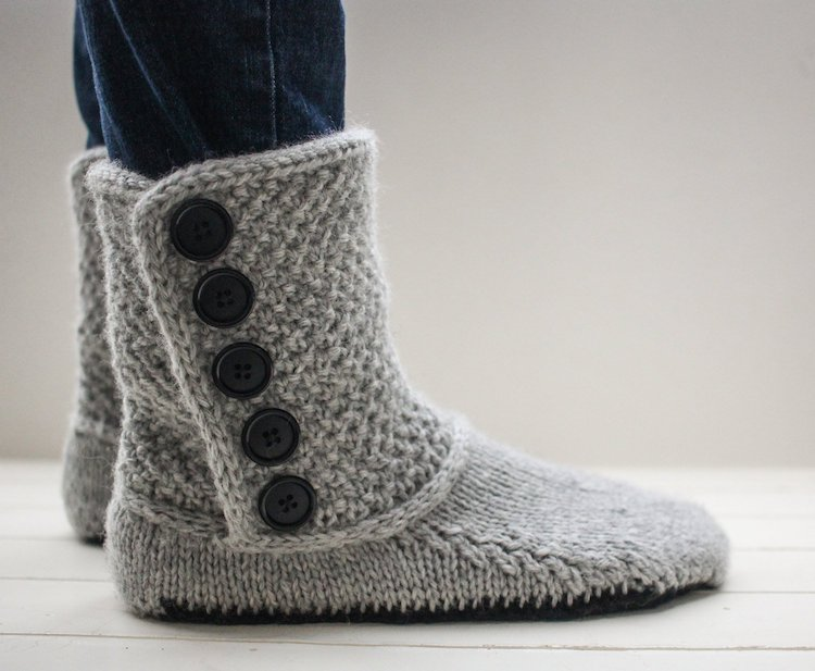 Patrons de chaussons tricotés