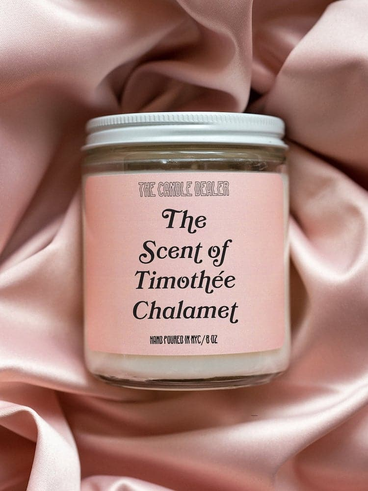 Bougie Parfum de Timothée Chalamet