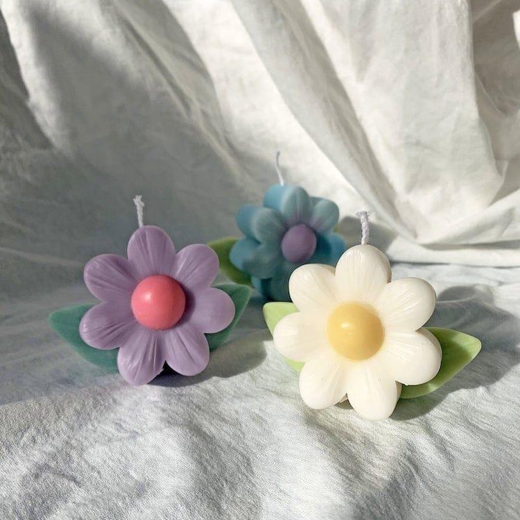 Bougie en cire de soja en forme de fleur