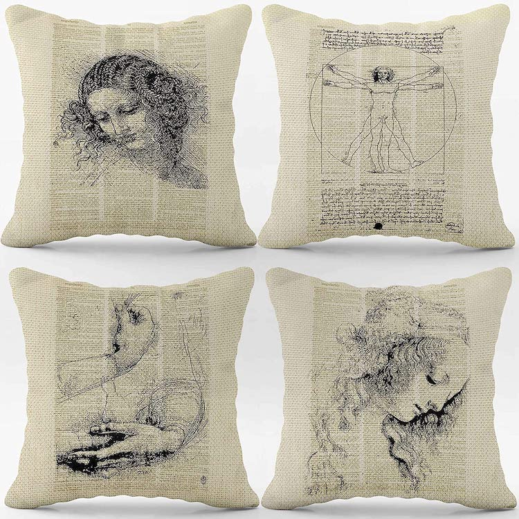 Ensemble de couvertures pour homme de Vitruve Léonard de Vinci