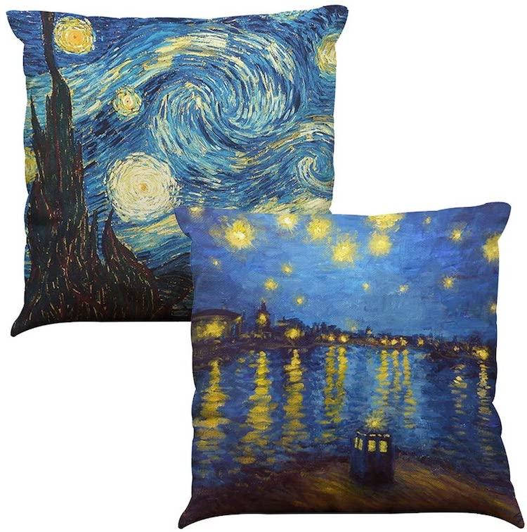 Vincent Van Gogh Nuit étoilée Ensemble de deux coussins (Plusieurs styles)