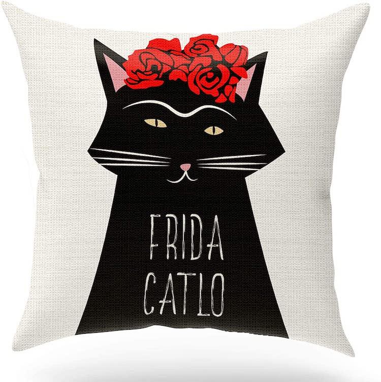 Coussin décoratif pour chat Frida Kahlo (plusieurs styles)