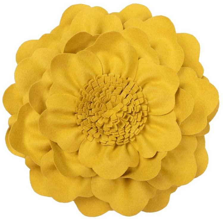 Coussin Fleur 3D (Plusieurs Couleurs)