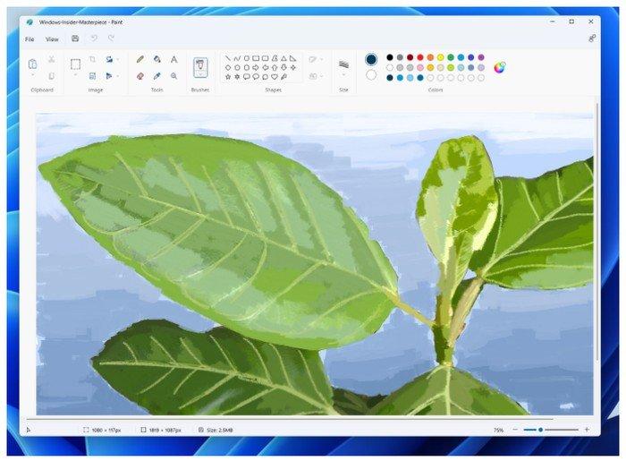 Application de peinture Windows
