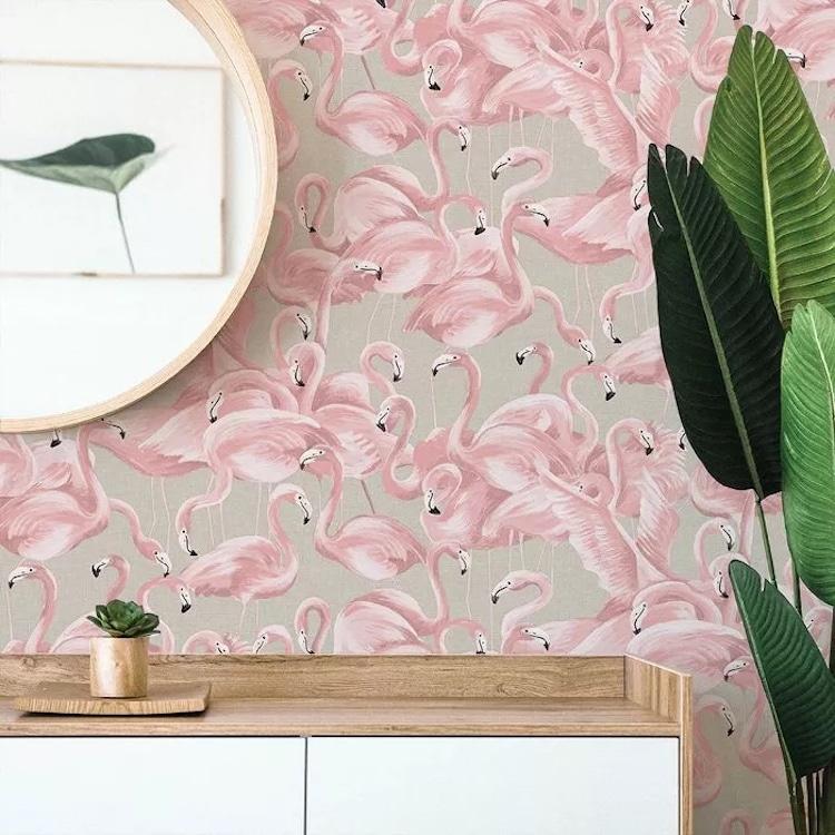 Papier peint à peler et coller Flamingo de Target